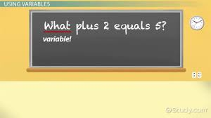 what are variables in math definition examples