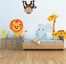 nursery zoo animal wall mural decals