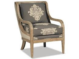 Weathered Oak Furniture Craftmaster 067410 067510 Accent Chair With Exposed Wood Trim In