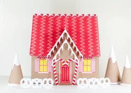 Gingerbread House Kit Paper Dollhouse Printable Christmas Etsy