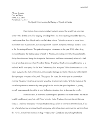 Compare Two People Essay The Opioid Crisis Essay Engl 102 Analysis And Argument