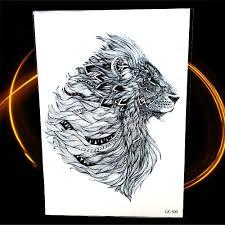 688 руб 10 скидкановый индийский племенной лев временная татуировка 2115 см