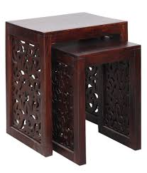 Nirvana Sheesham Wood Nesting Chairs SDL 4