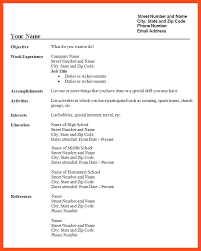 List Of Hobbies For Resume Download Free Blank Resume Form Template ...