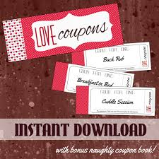 love coupon book printable love coupon book for him or for her bonus naughty coupons instant gift for boyfriend girlfriend husband or wife