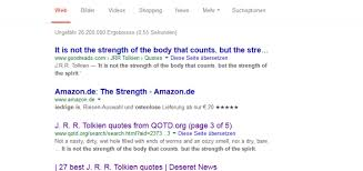 Google Quotes Interesting Not A Tolkien Quote It Is Not The Strength Of The Body That Counts