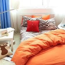 orange blue bedding set king size queen twin solid quilt doona duvet cover zebra print bed