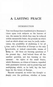 a lasting peace through the federation of europe and the state of  original table of contents or first page