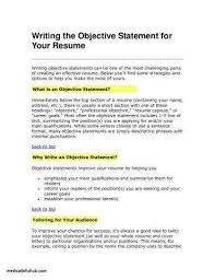 Job Objective For Resume Unique 60 New Good Job Objectives For Resume Photos Telferscotresources