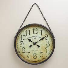 black chain gia wall clock unique
