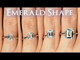 Carat Size Chart Emerald Cut Emerald Shaped Diamond Size Comparison On Hand Finger