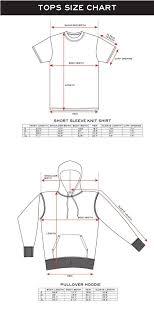 Size Chart Japan Design Xlarge