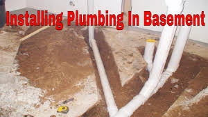 installing plumbing in basement for a