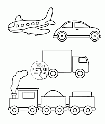 Simple Coloring Pages Of Transportation For