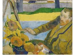 paul gauguin portrait of vincent van gogh painting sunflowers art painting for your favorite paul gauguin portrait of vincent van gogh painting
