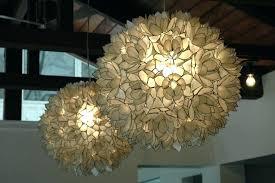capiz chandelier world market shell pendant light and chandelier