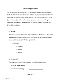 Simple Contractor Agreement Template Contract Templates And Agreements With Free Samples