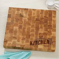 personalized butcher block cutting board her kitchen