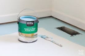 best paint for wood floorsHow to Paint Subfloor  In My Own Style