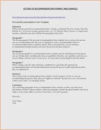Letter Of Recommendation Character Example Samples Of Personal Letters Recommendation Free Examples Character