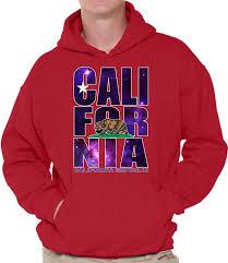 Awkward Styles California Republic Hoodie Cali Bear Galaxy Sweatshirt