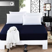 100 cotton fitted sheet bed cover hotel fitted cover solid color mattress protective cover protector