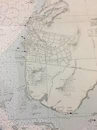 Vintage Ww2 Era Nautical Chart Of Suva Harbor Fiji Islands