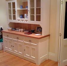 stunning kitchen buffets with hutch featuring flank open shelving and glass door storage compartments plus bottom
