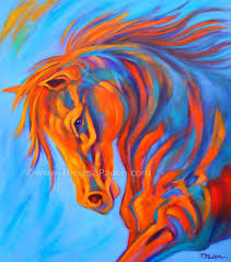 abstract horse paintings large colorful abstract horse painting