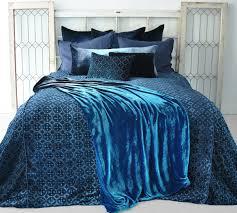 Peacock Blue Bedroom Kevin Obrien Luscious Velvet Bedding Plus Striking Peacock Blue