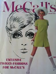 Twiggy Fashion Designer Twiggy On The January 1968 Cover Of Mccalls Magazine