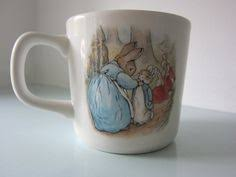 peter rabbit cup by beatrix potter wedgwood baby gift christening gift or baby shower gift