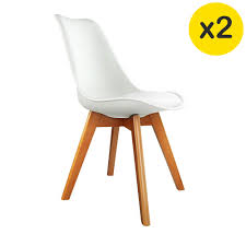 dining chairs on sale melbourne. sale. set of two replica eames pu leather dining chairs - white melbourne on sale a