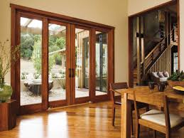 pella architect series 4 panel sliding patio door traditional dining room