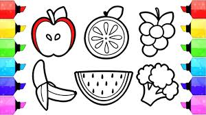 View all coloring pages from fruits category. Fruits And Vegetables Coloring Pages How To Draw And Color Fruits And Vegetable Coloring Book Youtube