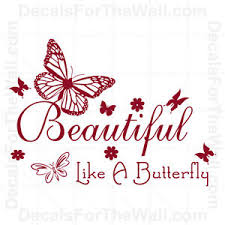 Beautiful Like A Butterfly Quotes Best of Beautiful Like A Butterfly Girl Wall Decal Vinyl Art Sticker Quote