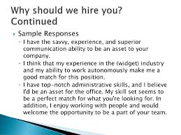 Why Should We Hire You For This Position Barca Fontanacountryinn Com
