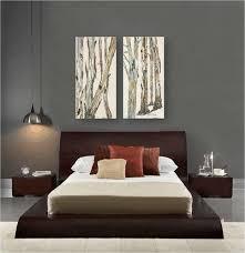 contemporary bedroom design dark gray walls artwork zen style furniture brown contemporary bedroom