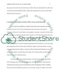 observation study of a coffee shop essay example topics and well   text preview