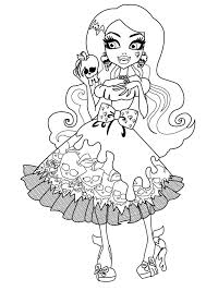 Small Picture Monster High Halloween Coloring PagesKids Coloring Pages