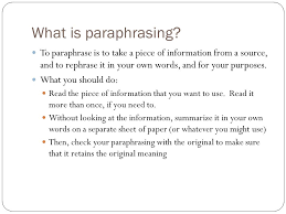 mr white s history class writing a research paper part  what is paraphrasing