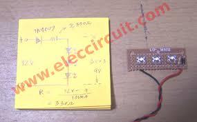 diy simple 12v led light eleccircuit com led wiring diagram 12 volt at Led Wiring Diagram 12v