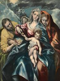 el greco domenikos theotokopoulos spanish born greece 1541 1614 the holy family with saint mary magdalen 1590 1595 oil on canvas the cleveland