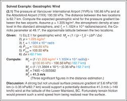 Atsc 201 5 The Geostrophic Wind And The Near Surface