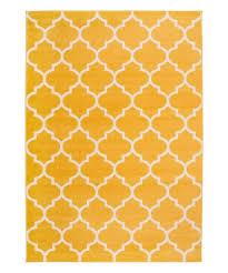 yellow modern moroccan trellis nevada rug