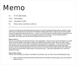 Examples Of Memos Magdalene Project Org