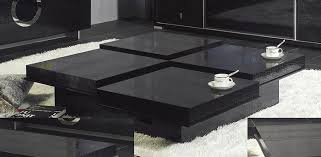 Modern Crocodile Black Coffee Table 8879A