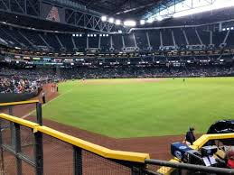 Chase Field Az Seating Chart Chase Field Section 105 Home Of Arizona Diamondbacks