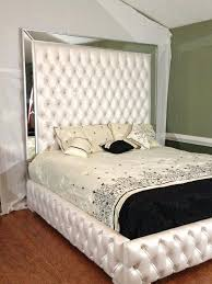 This Queen Bed Displays Features Of An Upholstered Headboard With ...