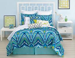 amazoncom trina turk piece blue peacock comforter set twin